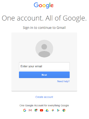 Log into your Gmail account
