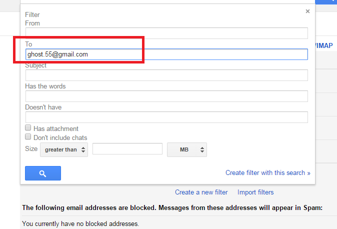 Enter your email address with a dot somewhere in it, different example