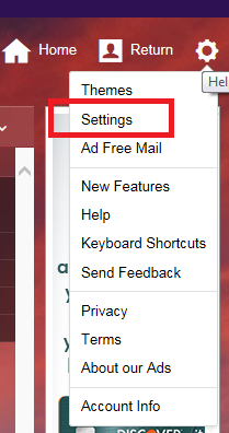 "Click on ""Settings"" from gear box drop down"